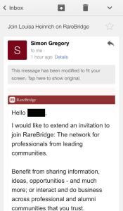 RareBridge sent this email to every single contact in my address book, without my permission.